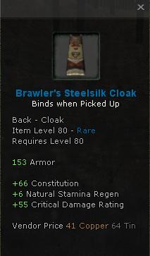 Brawlers Steelsilk cloak
