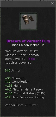 Bracers of vernant fury