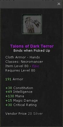 Talons of dark terror