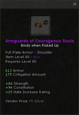 Armguards of courageous souls