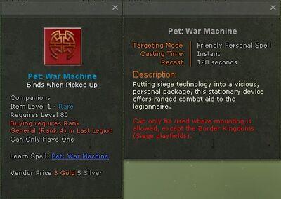 Pet war machine