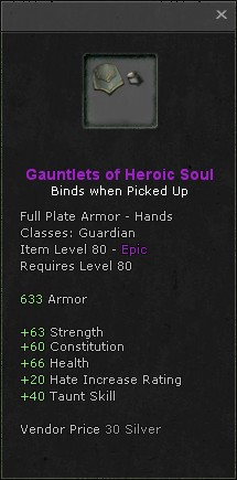 Gauntlets of heroic soul