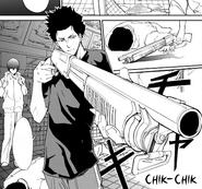 06 Iwakura with a shotgun