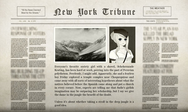 Felix Peruvian Adventure Newspaper
