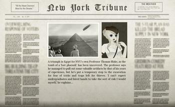 Roland Egyptian Adventure Newspaper