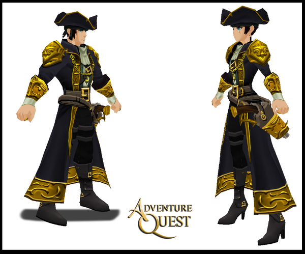Black And Gold Pirate