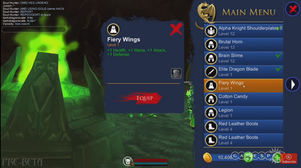 Fiery wings stats