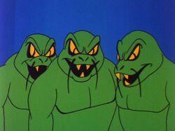 Rampaging reptile-men