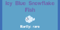 Icy Blue Snowflake Fish