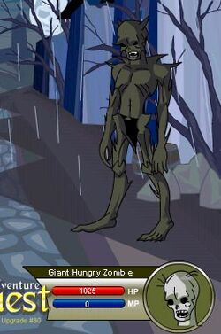 Giant Hungry Zombie
