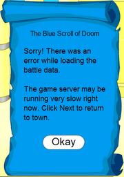 The Blue Scroll of Doom