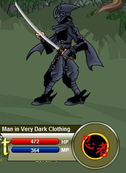 Man in Very Dark Clothing