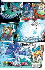 Thunderbolt Battles Sonic the Werehog