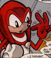 Knuckles without his glove