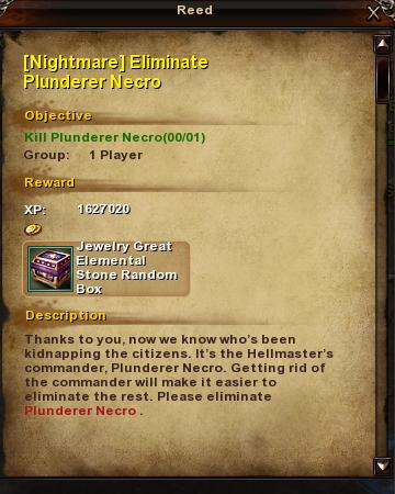 186 Nightmare Eliminate Plunderer Necro