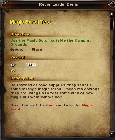 100 Magic Scroll Test