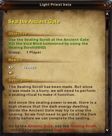 177 Seal the Ancient Gate Grassy Fields Quest