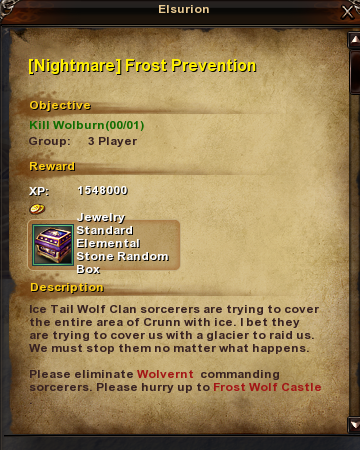 161 -Nightmare- Frost Prevention (Bug 4)