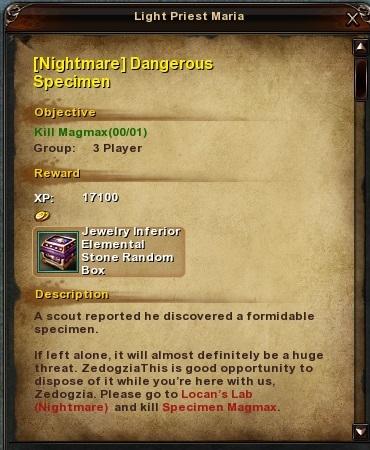 79 Nightmare Dangerous Specimen