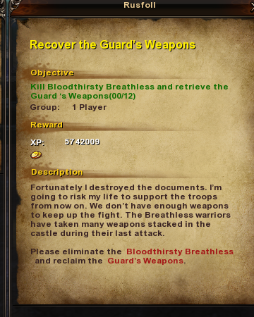 172 Recover the Guard's Weapons