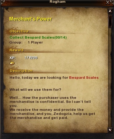 154 Merchant's Power Grassy Fields Quest
