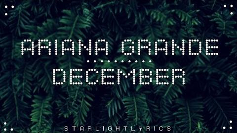 Ariana Grande - December (with lyrics) HD