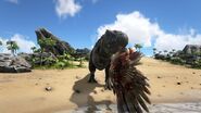 ARK-Tyrannosaurus and Argentavis Screenshot 001