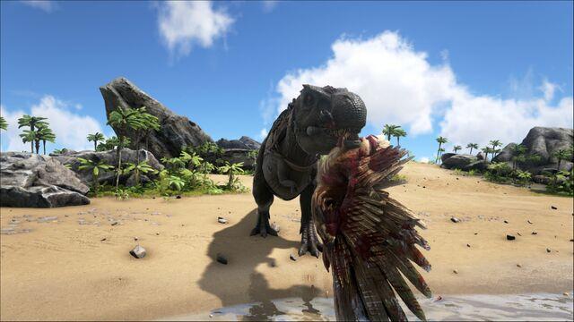 File:ARK-Tyrannosaurus and Argentavis Screenshot 001.jpg