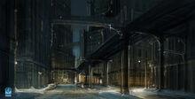 Batmanarkhamorigins environment new gotham diamond district concept by meinert hansen additions 01