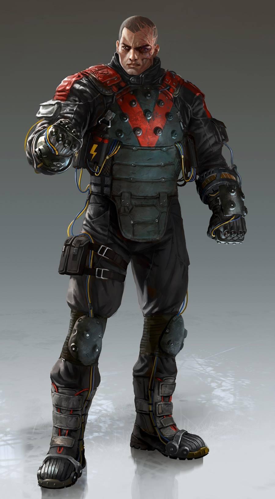 Image - Arkham Origins Electrocutioner Concept Art.jpg ...