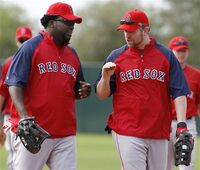David ortiz and sean casey, boston red sox
