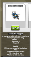 Stats Assault Chopper