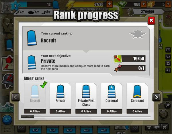 Rank-progress