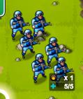 Blue infantry