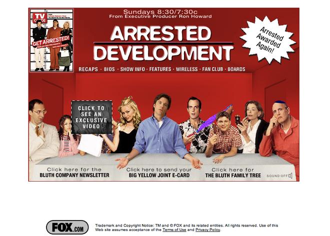 Official website 2003