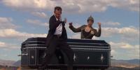Magic coffin illusion