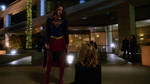 Supergirl talking to Cat after throwing her off CatCo