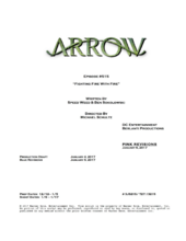 Arrow script title page - Fighting Fire With Fire