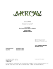 Arrow script title page - Sins of the Father
