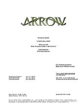 Arrow script title page - Corto Maltese