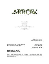 Arrow script title page - Crucible