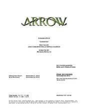 Arrow script title page - Canaries