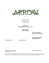 Arrow script title page - The Sin-Eater