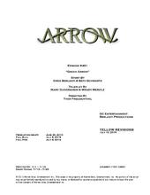 Arrow script title page - Green Arrow