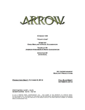 Arrow script title page - Year's End