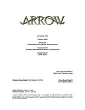 Arrow script title page - Year's End