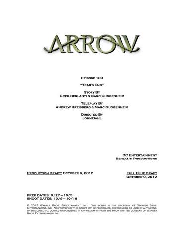 Archivo:Arrow script title page - Year's End.png