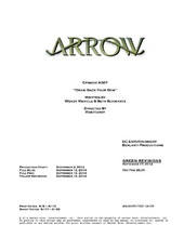 Arrow script title page - Draw Back Your Bow