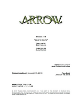 Arrow script title page - Dead to Rights