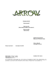 Arrow script title page - Unchained